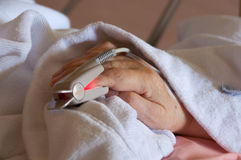 Finger Heart Monitor Stock Images