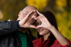Finger Heart Stock Images