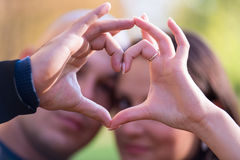 Finger Heart Royalty Free Stock Images