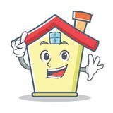 Finger house character cartoon style. Vector illustration Stock Image