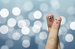 Finger hug stock photos