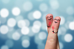 Finger hug Royalty Free Stock Image