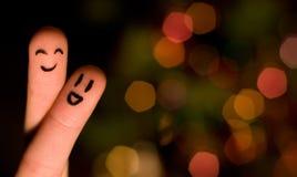 Finger hug 3. With nice bokeh Stock Photography