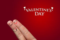 Finger hug, valentine's day royalty free stock image