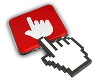 Finger Icon. 3D illustration Icon- Hand Cursor Click Royalty Free Stock Photo