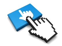 Finger Icon. 3D Illustration Finger Vector Icon Royalty Free Stock Photography