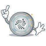 Finger IOTA coin character cartoon. Vector illustration Stock Image