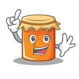 Finger jam mascot cartoon style. Vector illustration Royalty Free Stock Photo