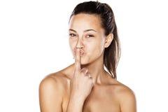 Finger kiss Stock Photography