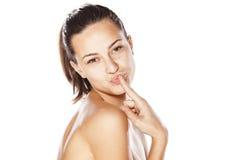 Finger kiss Stock Image