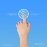Finger klickar Royaltyfri Fotografi