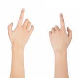 Finger klickar Arkivbild