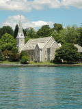 Finger Lakes Church. Church on Skaneateles Lake (one of the Finger Lakes) in the Village of Skaneateles, Upstate New York royalty free stock photography