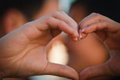 Finger-Liebe Lizenzfreies Stockfoto