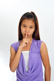 Finger on lips Royalty Free Stock Photography