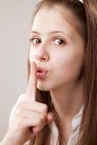 Finger on Lips, Tsss Stock Photos