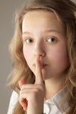 Finger on Lips, Tsss Royalty Free Stock Image