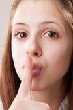 Finger on Lips, Tsss Stock Photography