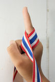 Finger. Love with the country came to be one Stock Photography