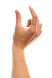 Finger measurement Royalty Free Stock Photo