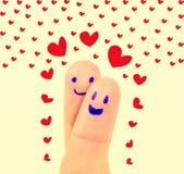 Finger mit Liebe Stockfotos