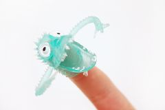 Finger Monster. Toy Stock Photos