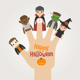 Finger monsters halloween , happy halloween. Eps10 vector format Royalty Free Stock Image