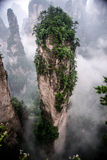 Finger mountain (floating island). Skinny mountain in Zhangjiajie park, Hunan province, China Royalty Free Stock Image