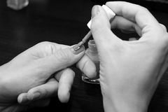 Finger nagelt Malerei Lizenzfreie Stockfotos