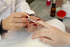 Finger nail care. Stock Photography