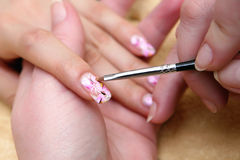 Finger nail  manicure Royalty Free Stock Images