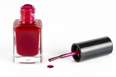 Finger nail polish bottle Stock Image