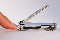 Finger and nail scissors Stock Photography