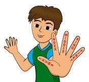 Finger names Stock Image