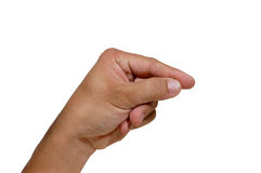 Finger Number 5. Counting finger hand number 5 wave Royalty Free Stock Images