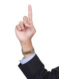 Finger number one pointing Royalty Free Stock Photo