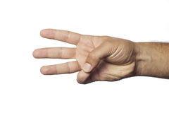 Finger number three Royalty Free Stock Images