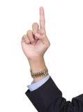 finger nummer ett som pekar Royaltyfri Foto