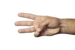 finger nummer tre Royaltyfria Bilder