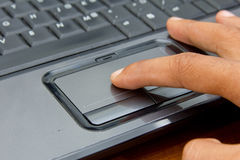 Free Finger On Notebook Touchpad. Royalty Free Stock Image - 20144696
