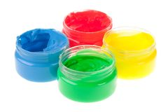 Finger paint Royalty Free Stock Photography