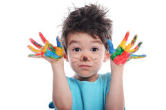 Finger Paint Stock Photography