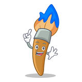 Finger paint brush character cartoon. Vector illustration Stock Image