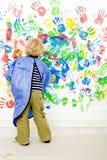 Finger painter stock photo