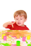 Finger painting Stock Images