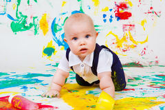 Finger painting Royalty Free Stock Images