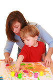Finger painting Stock Image