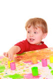 Finger painting Stock Photography