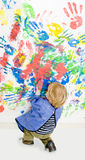 Finger painting Stock Photo