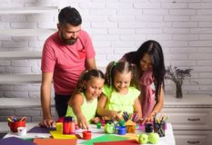 Finger painting and arts Royalty Free Stock Image